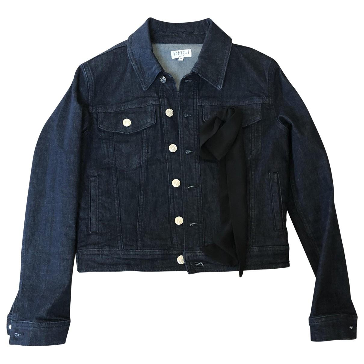 Claudie Pierlot Spring Summer 2019 Jacke in  Blau Denim - Jeans