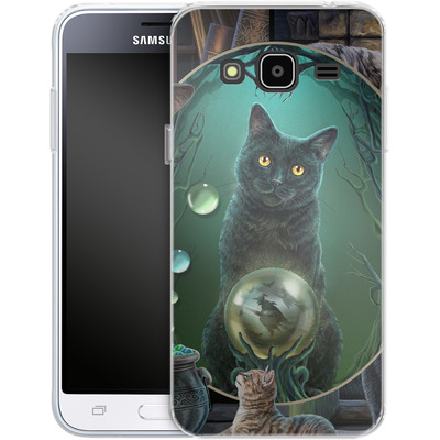 Samsung Galaxy J3 (2016) Silikon Handyhuelle - Magical Cats Montage von Lisa Parker