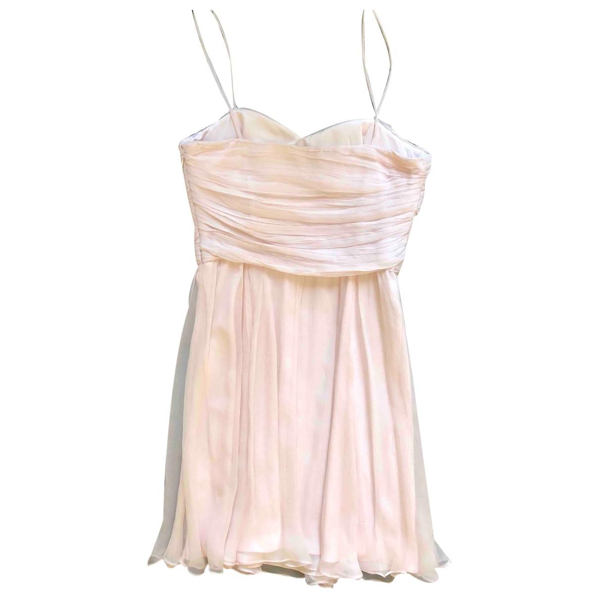 Galliano - Robe   pour femme en soie - rose