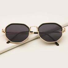 Sonnenbrille mit geometrischem Rahmen