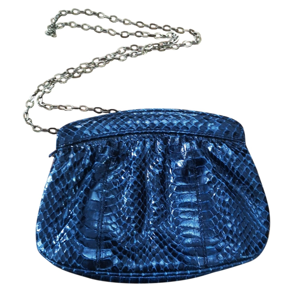 Bolsos clutch en Serpiente de agua Azul Non Signe / Unsigned
