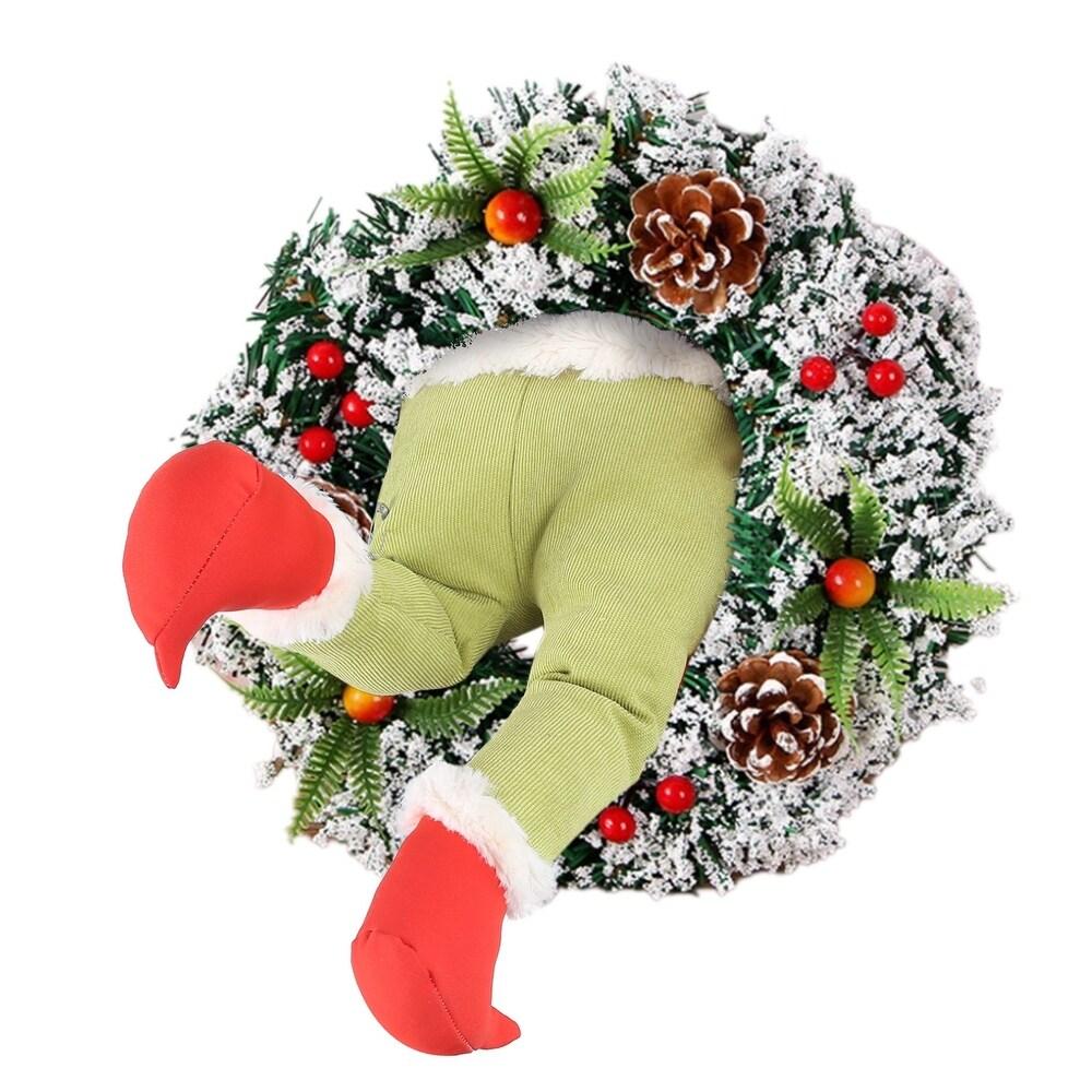 How the Christmas thief Stole Christmas BurlapWreath - 3.93x5.9x1.96 inch (Wood - Multi)