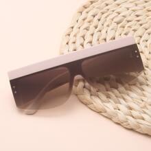 Flat Top Shield Sunglasses