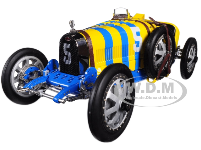 Bugatti T35 5 National Colour Project Grand Prix Sweden Limited Edition to 500 pieces Worldwide 1/18 Diecast Model Car by CMC