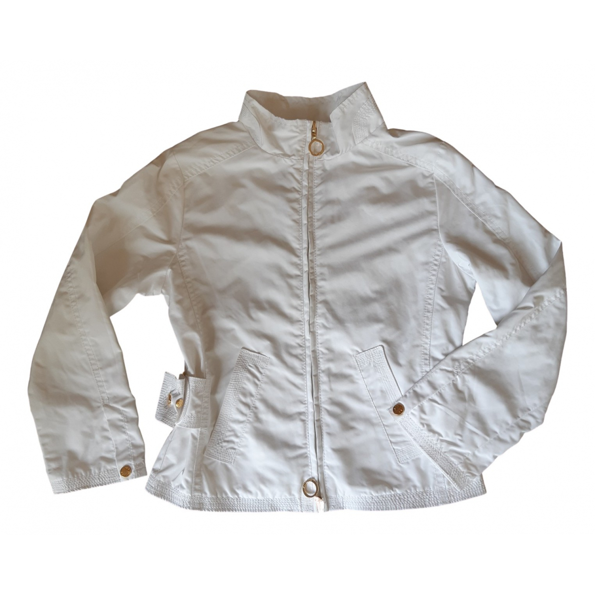 Moncler \N Jacke, Maentel in  Weiss Polyester