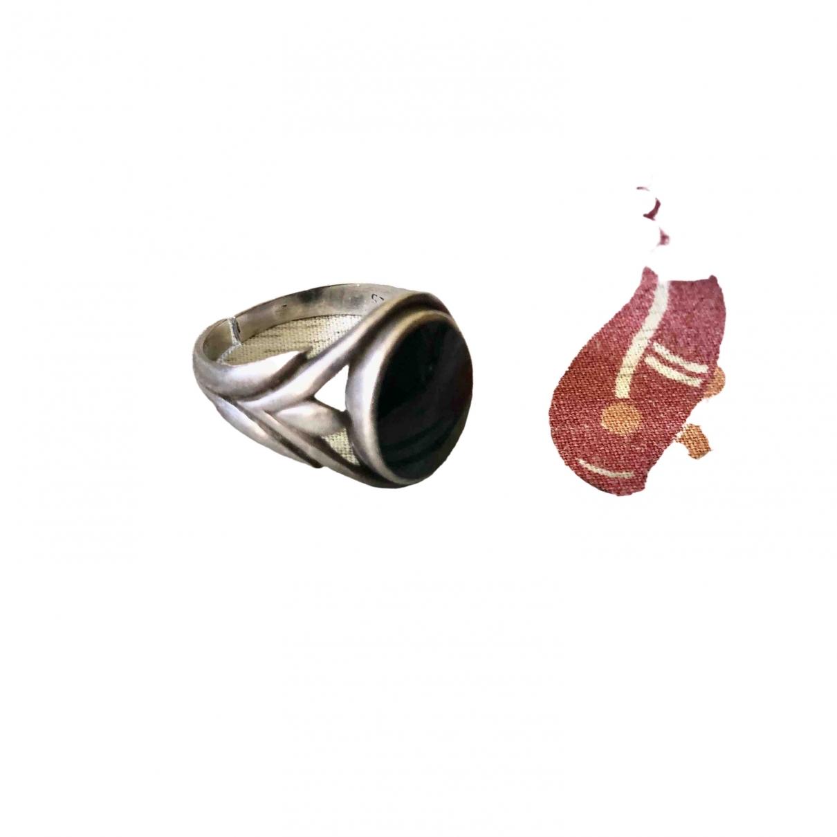 Non Signe / Unsigned Onyx Schmuckstuecke in  Silber Silber