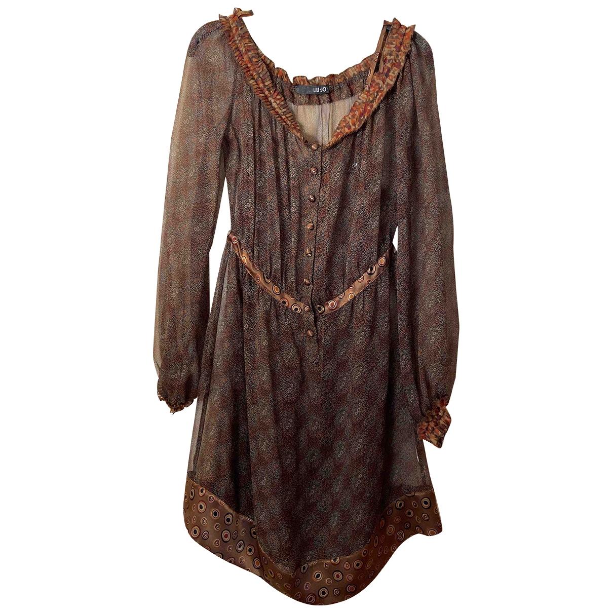 Liu.jo - Robe   pour femme en soie - marron