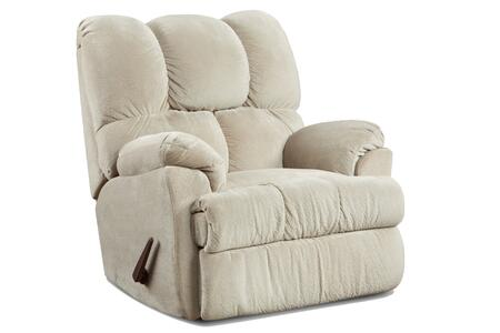 Burlington Collection 192770-R-AB 41 Chaise Rocker Recliner with Tufted Details  Traditional Style  Plush Padded Arms  Fabric Upholstery in Beige