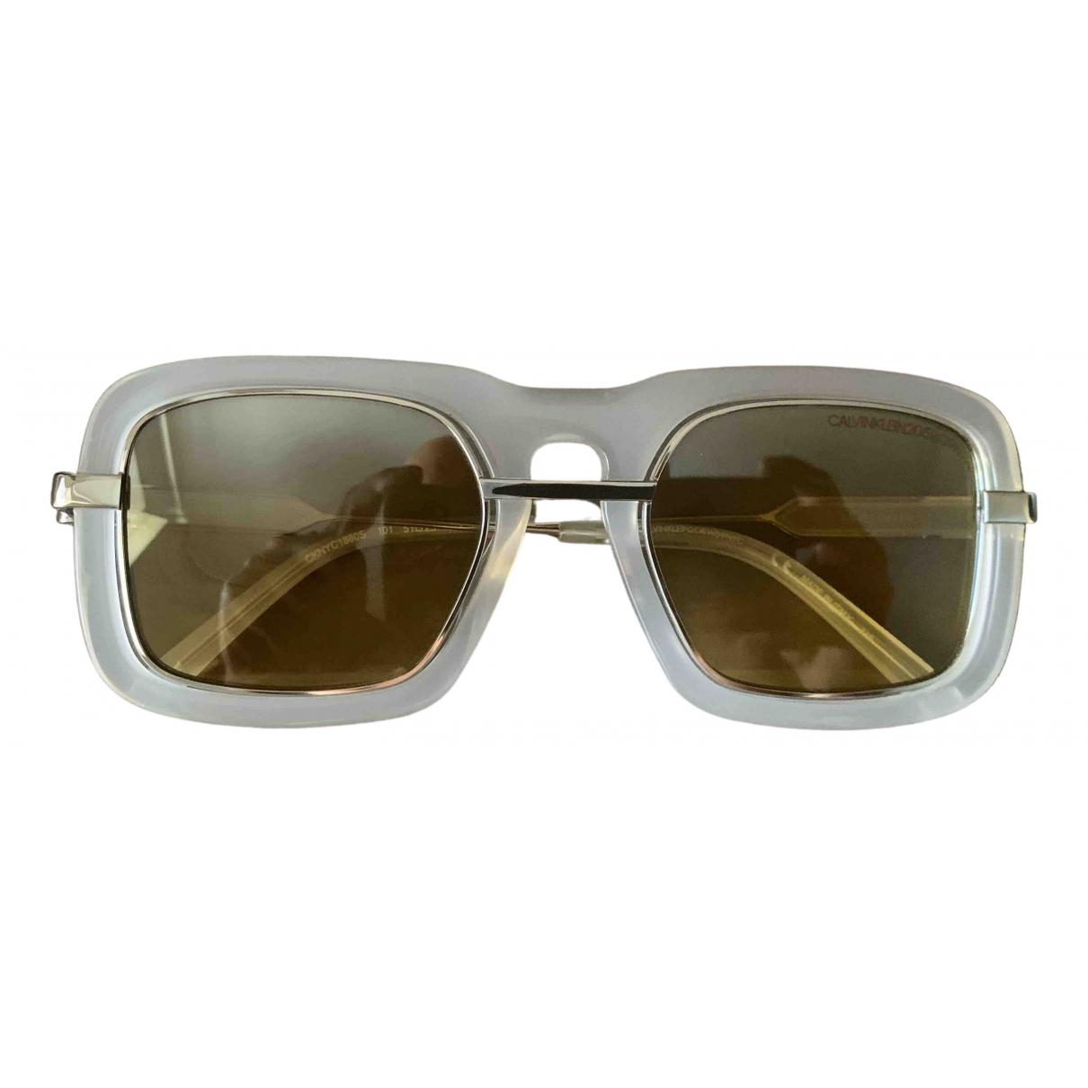 Calvin Klein 205w39nyc - Lunettes   pour homme - blanc