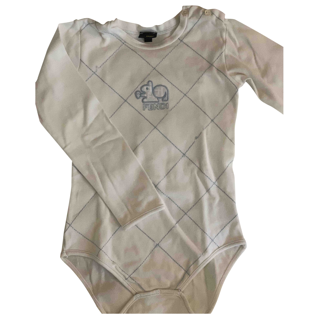 Fendi \N White Cotton  top for Kids 2 years - up to 86cm FR