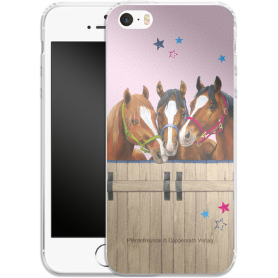 Apple iPhone 5 Silikon Handyhuelle - Pferdefreunde 3 von Pferdefreunde