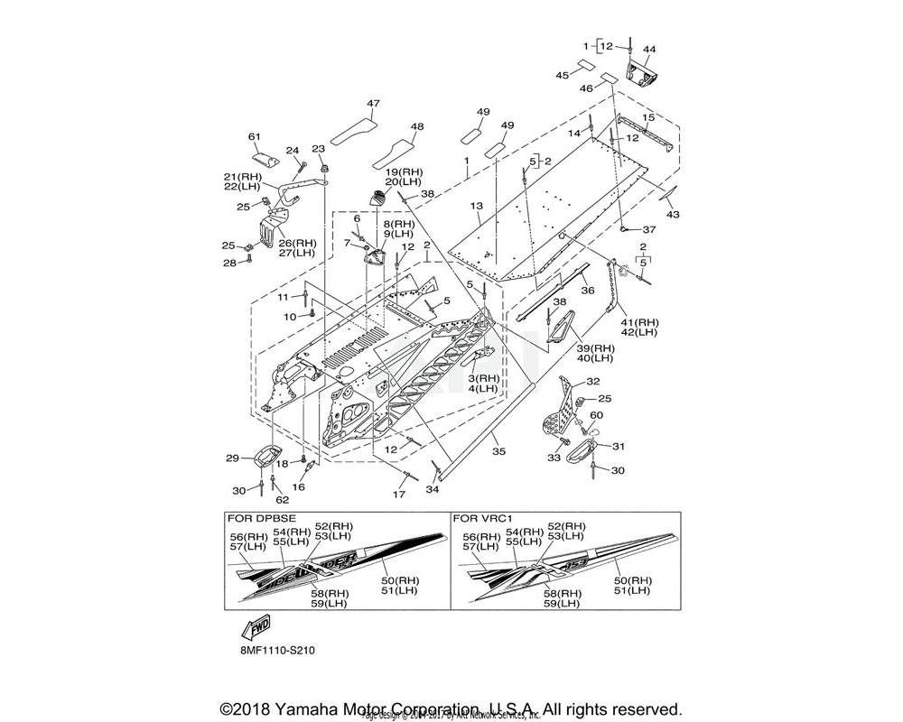 Yamaha OEM 8LY-F199D-00-00 GRAPHIC 4 | UR FOR VRC1