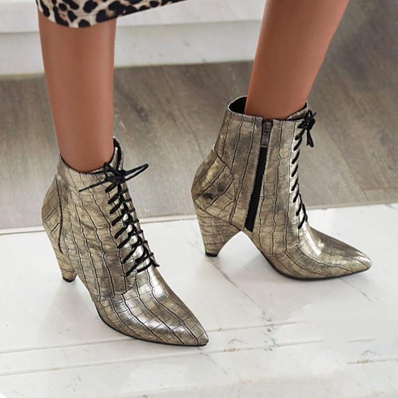Ericdress Pointed Toe Plain Side Zipper Western Boots