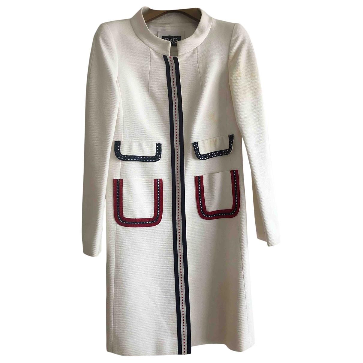 D&g \N White Cotton coat for Women 38 IT