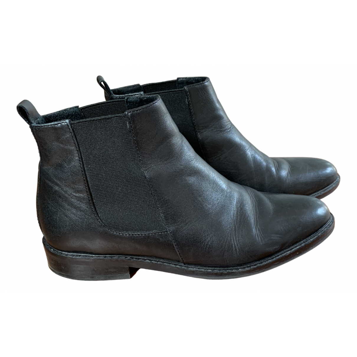 Hallhuber \N Stiefeletten in  Schwarz Leder