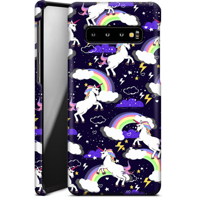 Samsung Galaxy S10 Smartphone Huelle - Unicorn Blue von Mukta Lata Barua