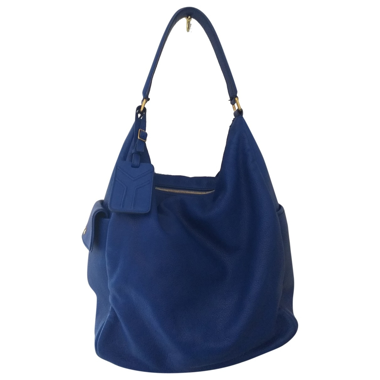 Yves Saint Laurent \N Handtasche in  Blau Leder