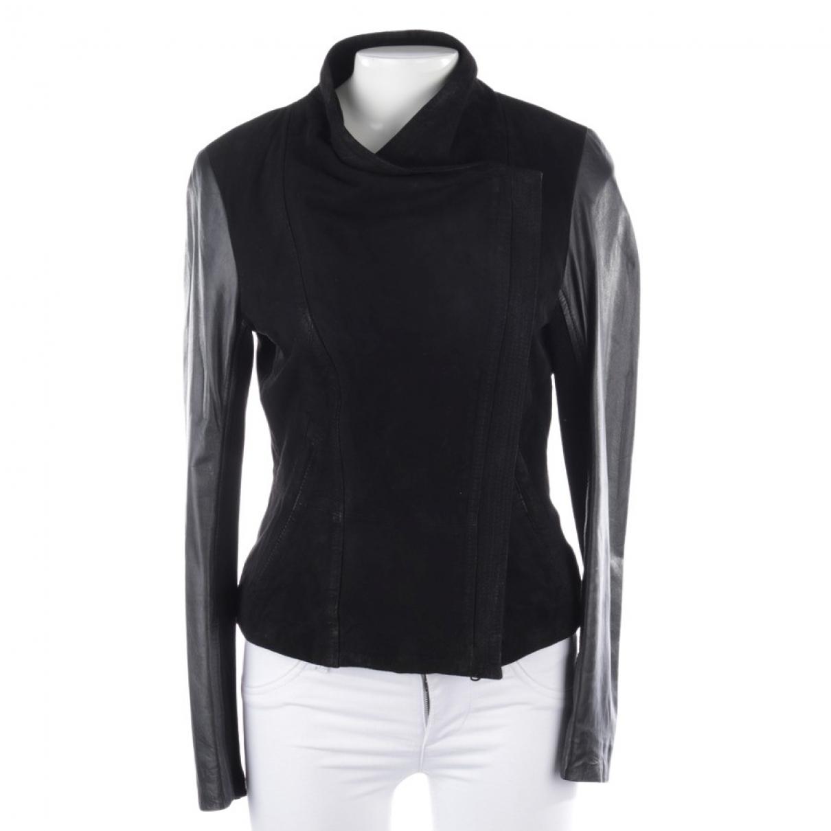 Drykorn - Veste   pour femme en cuir - noir