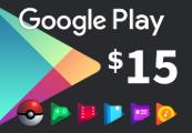 Google Play $15 US Gift Card