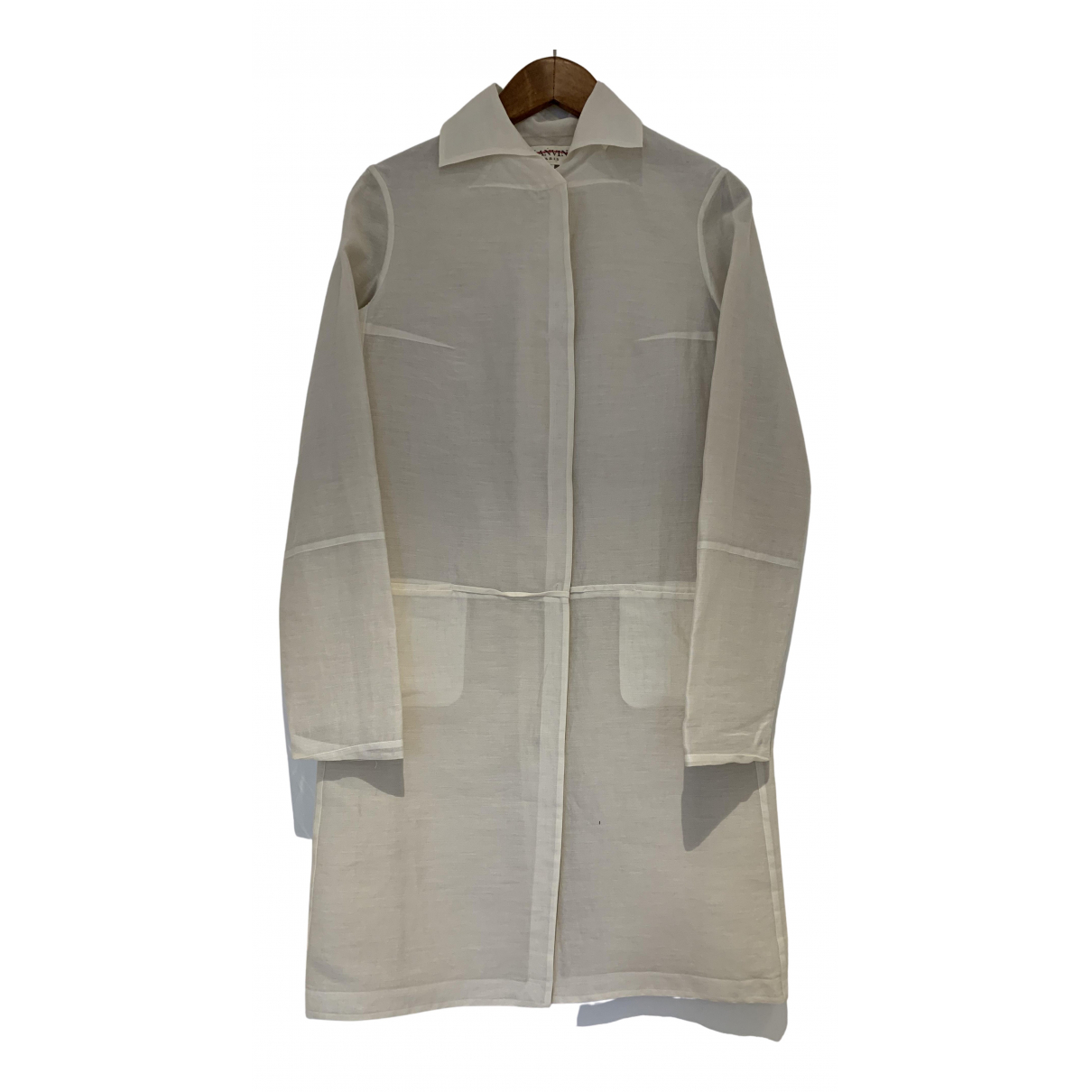 Lanvin N Ecru Cotton coat for Women 36 FR