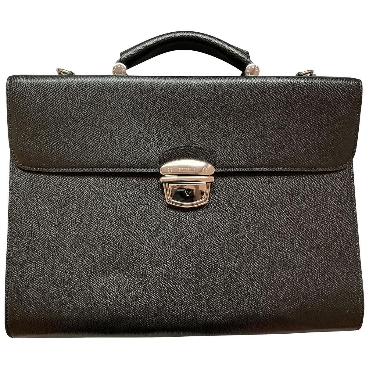 Furla N Black Leather bag for Men N