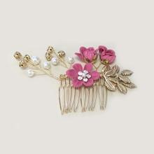 Flower Decor Hair Pin