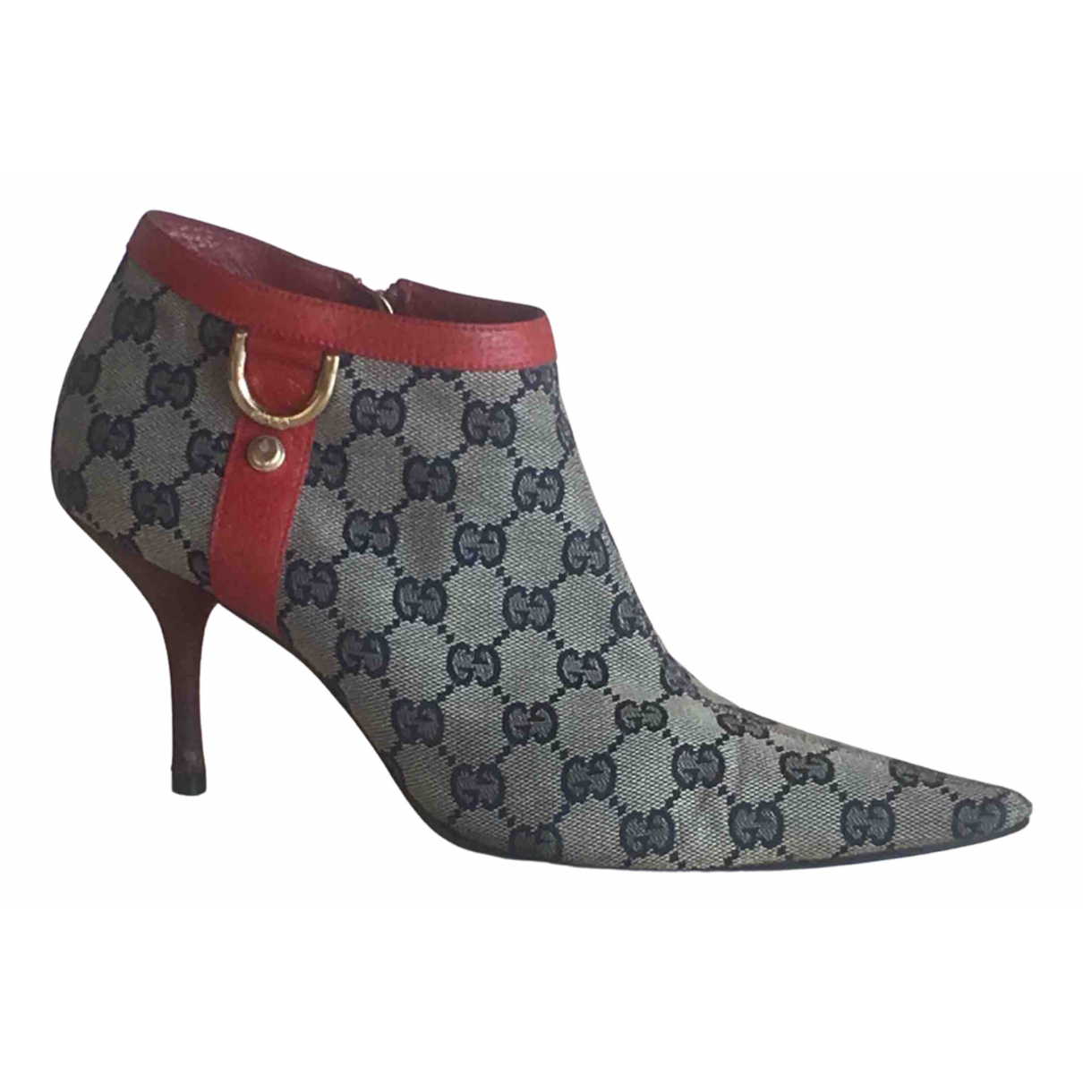 Gucci \N Beige Cloth Ankle boots for Women 39 EU