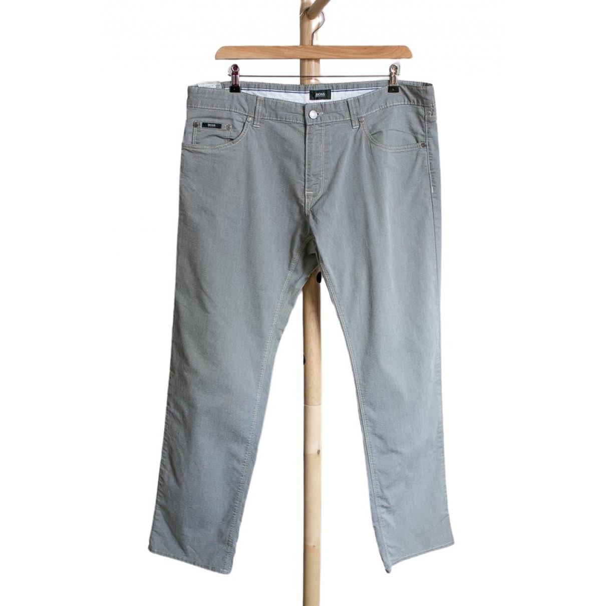 Boss - Jean   pour homme en coton - gris