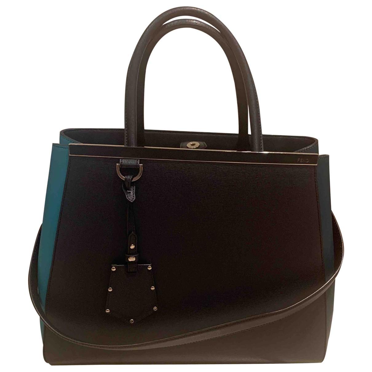 Fendi 2Jours Blue Leather handbag for Women N