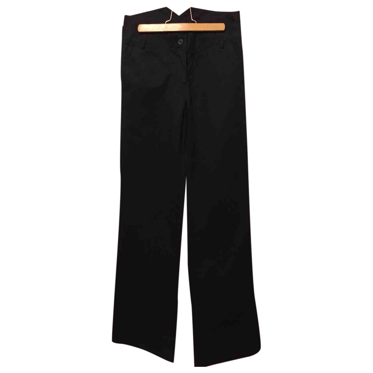 Sandro N Black Cotton Trousers for Women 36 FR
