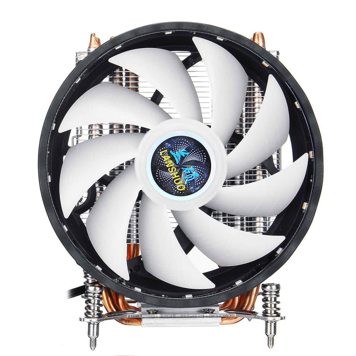 CPU Cooling Fan 12cm 6 Copper Tubes 3 Wires Single Fan Air Cooler RGB Light Fixed CPU Radiator
