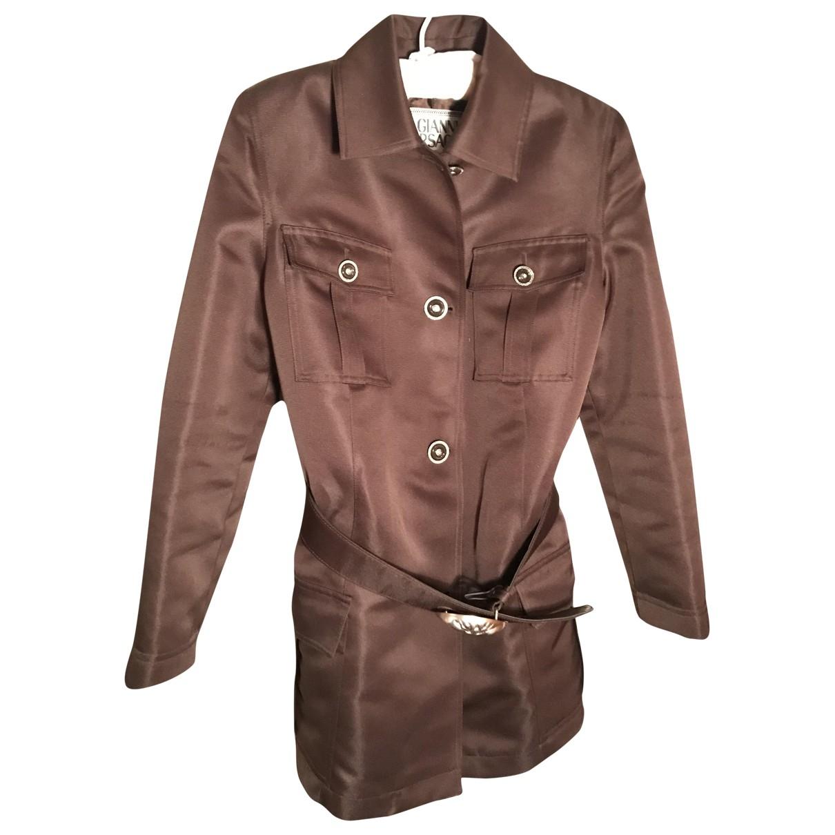 Gianni Versace \N Brown jacket for Women 42 IT