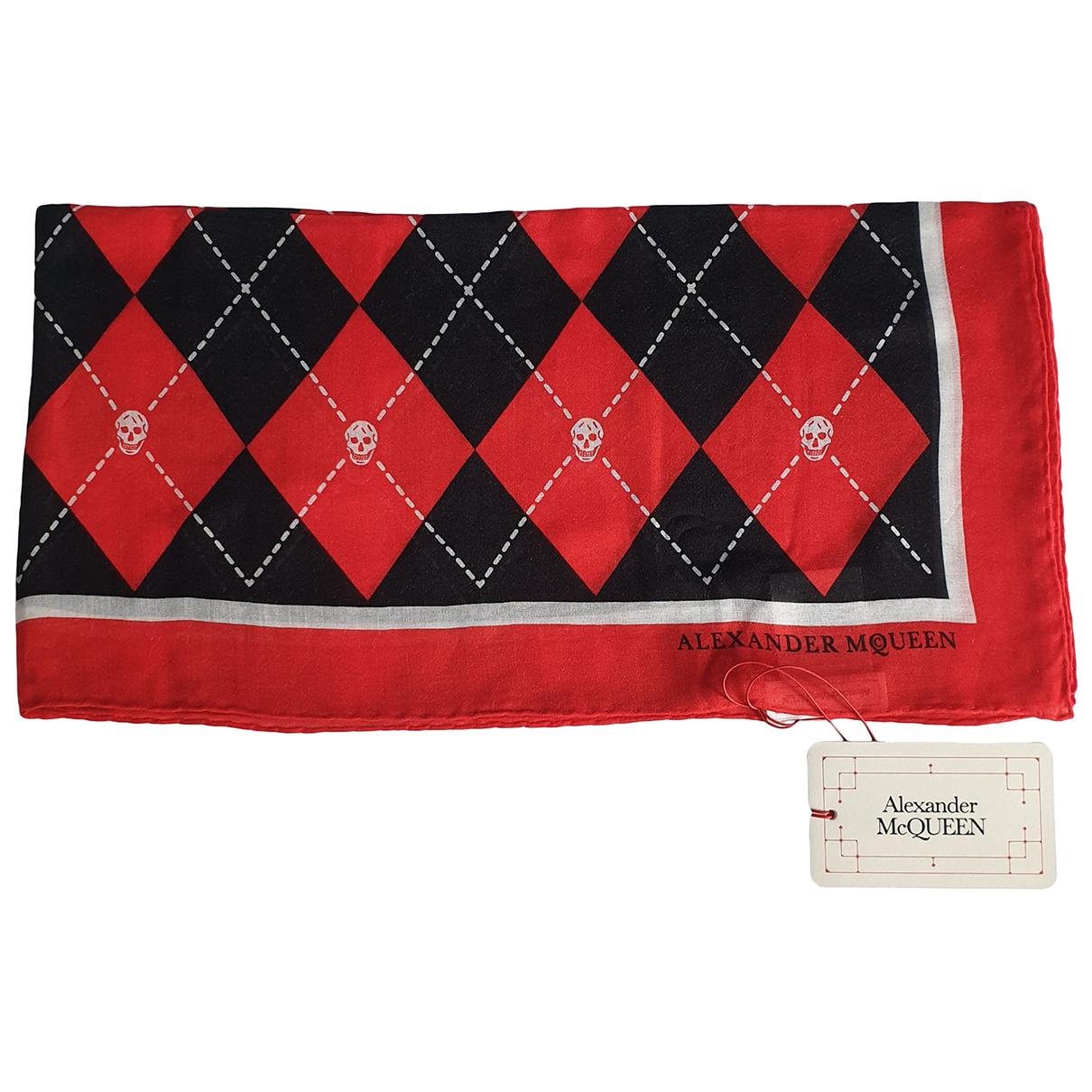 Alexander Mcqueen - Foulard   pour femme en coton - rouge