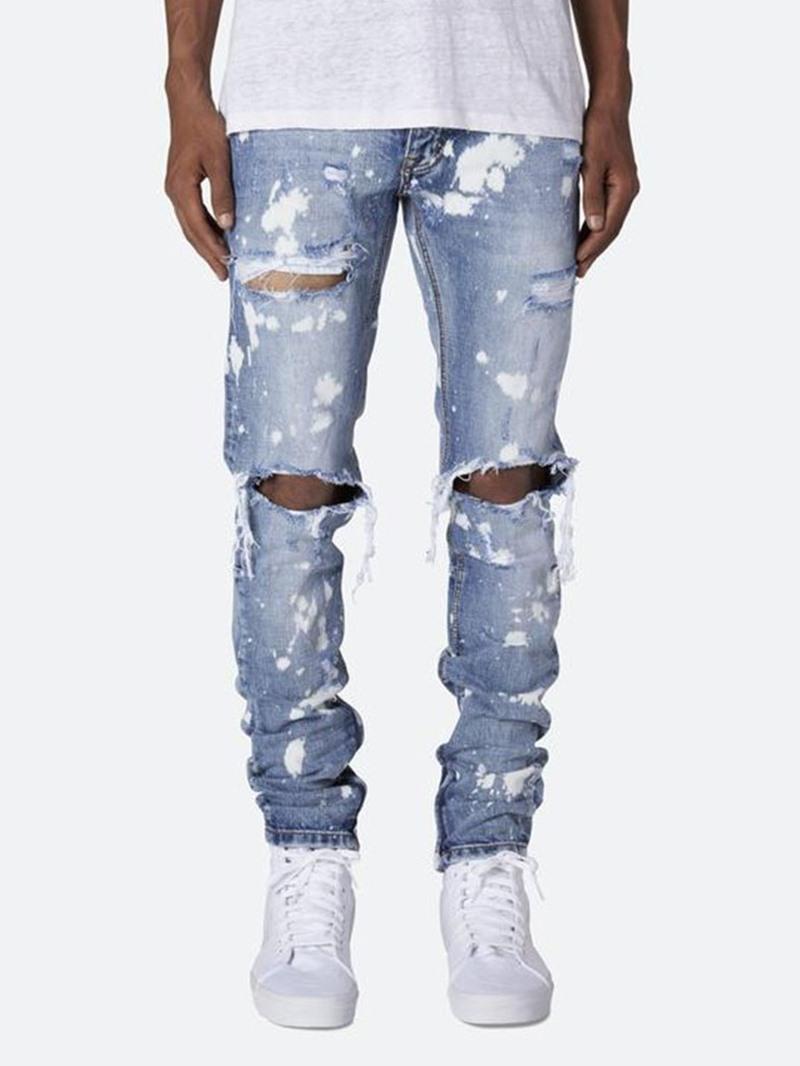 Ericdress Zipper Casual Mid Waist Mens Jeans