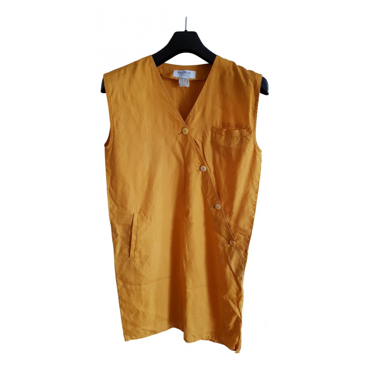 Max Mara \N Kleid in  Gelb Leinen