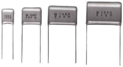Panasonic 3.3μF Polyester Capacitor PET 250V dc ±5%, Through Hole (5)
