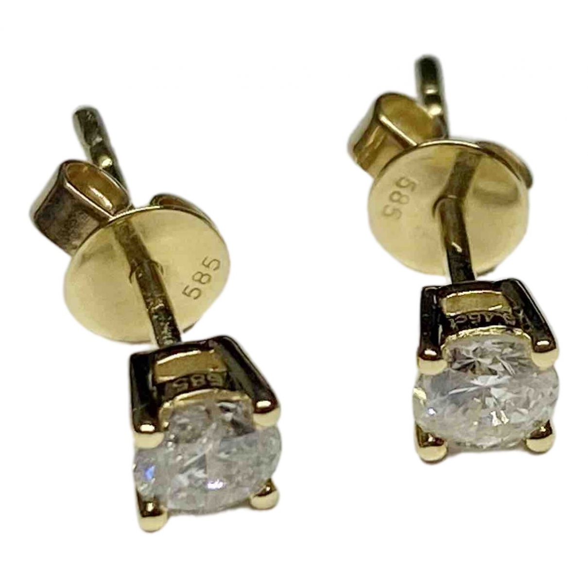 Non Signe / Unsigned Puces en diamants OhrRing in  Gelb Gelbgold