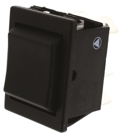 Arcolectric Double Pole Double Throw (DPDT), On-Off-On Rocker Switch Panel Mount