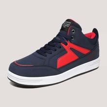 Zapatillas deportivas de hombres con cordon delantero de dos colores