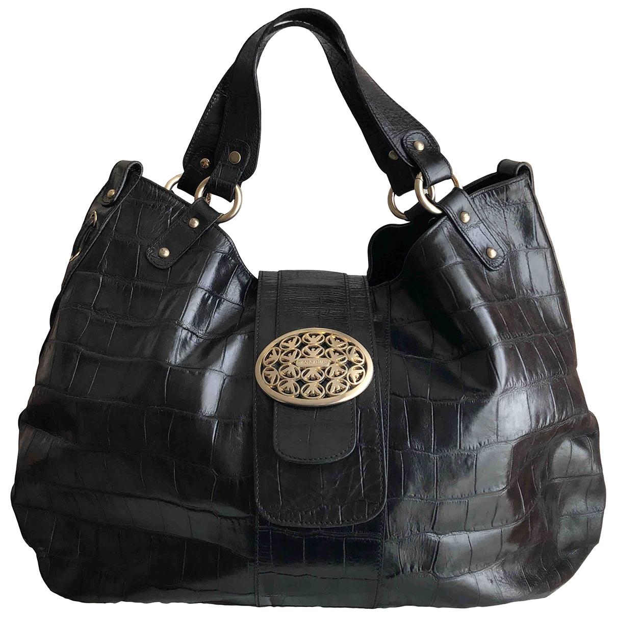 Emporio Armani \N Handtasche in  Schwarz Leder