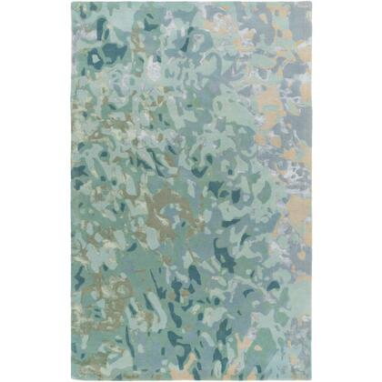 RRQ2004-810 8' x 10' Rug  in Teal and Ice Blue and