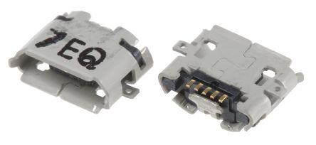 Hirose , ZX USB Connector, SMT, Socket 2.0 B, Solder, Straight (5)