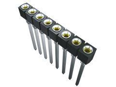 Samtec , SS 2.54mm Pitch 4 Way 1 Row Vertical PCB Socket, Through Hole, Solder Termination (1000)