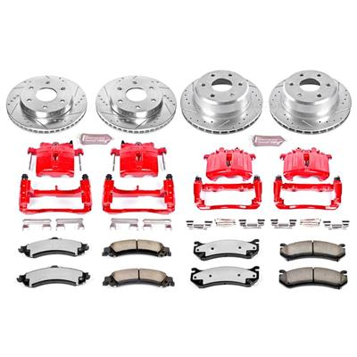 Power Stop Z36 Extreme Performance Truck & Tow 1-Click Front and Rear Brake Kit with Calipers - KC2015-36