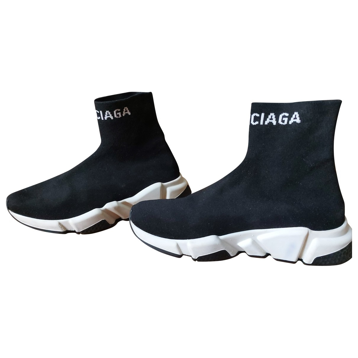 Balenciaga Speed Sneakers in  Schwarz Leinen