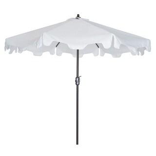 9-Feet Flap Market Table Umbrella with Push Button Tilt and Crank (White)