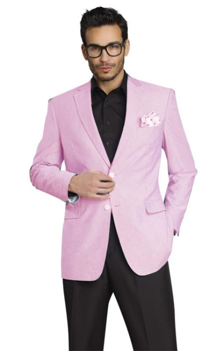 Mens Stylish Two Button Jacket Pink