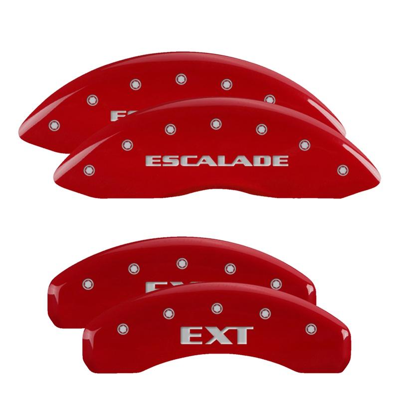 MGP Caliper Covers 35015SEXTRD Set of 4: Red finish, Silver Escalade / EXT Cadillac Escalade 2007-2020