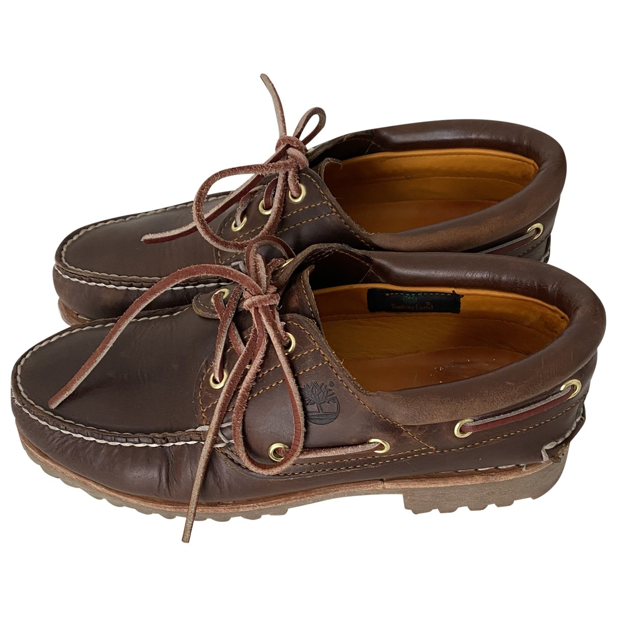 Timberland - Derbies   pour homme en cuir - marron