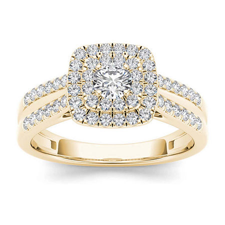 3/4 CT. T.W. Diamond 10K Yellow Gold Engagement Ring, 9 , No Color Family